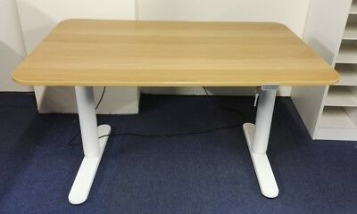 Used Electric Height Adjustable Straight Rectangular 1200w Office Desk