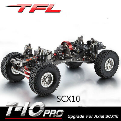 1 10 tfl rc cars axial scx10 t10 pro rock crawler alloy kit chassis