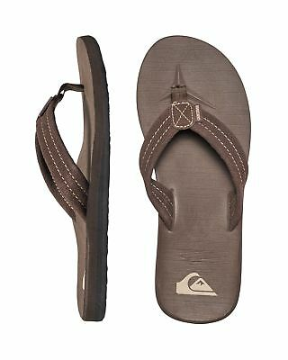 NEW QUIKSILVER™  Mens Carver Suede Thongs Flip Flops Slippers