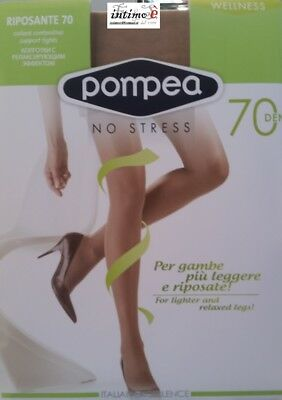 2 Paia Calze Collant Pompea Riposante 70 Den Contenitivo Support No Stress