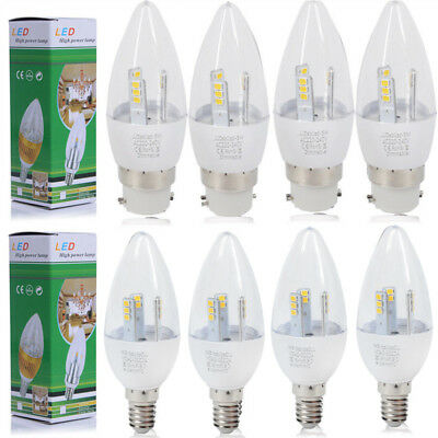 1/6/12X 5W E14 SES B22 BC Dimmable LED Candle Bulbs SMD Lamp Spotlight Spot Bulb