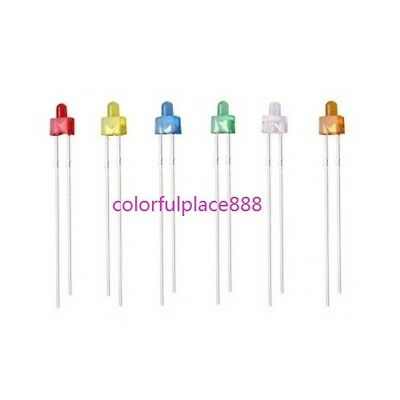 120pcs 2mm Round Top Diffused Red Yellow Blue Green White Orange LED Diodes Leds
