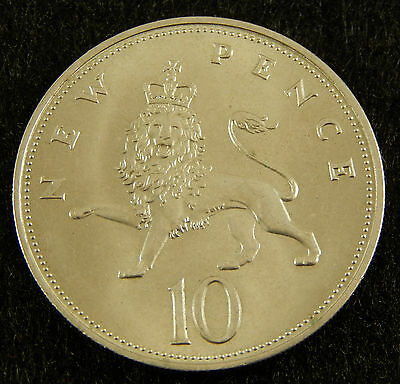 1968 UK Great Britain 10 New Pence Coin KM#912 SB3181