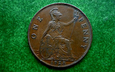 1928 UK Great Britian 1 Penny Coin  KM# 838 SB1303