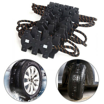Black Safety Tire Wheel Anti-skid Ice Snow Mud Chains For Car Vehicle Truck C34E
