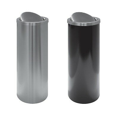 Waste Basket With Lid Rotating Metal Lacquered Stainless Steel