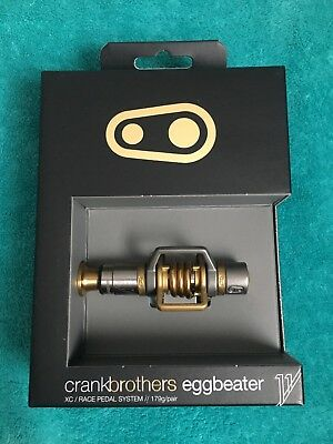 Crank Brothers Eggbeater 11 Klick-Pedale titan/gold