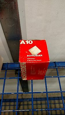 """Schroeder A10  3 Micron Hydraulic Filter Element  5"""" long 3"""" Dia."""