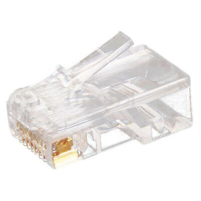 100pc Clear RJ45 CAT5 8P8C Modular Jack Network Connector Adapter Card N7K8