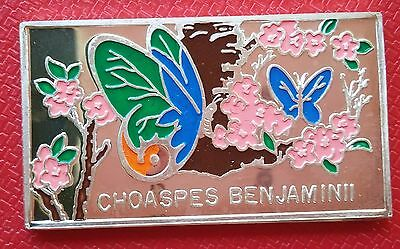 1998 Korea 250 Won Choaspes Benjaminii, Indian Awlking, Butterfly, Silver 999