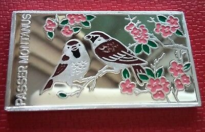 1998 Korea 250 Won, Passer Montanus, Sparrow, Birds of Korea, FAUNA Silver 999