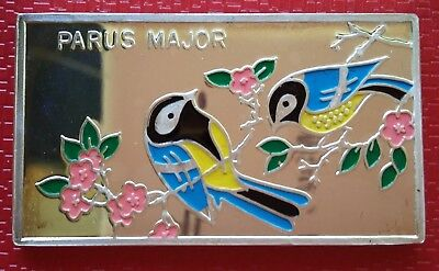 1998 Korea 250 Won, Parus Major, Great Tit, Birds of Korea, FAUNA Silver 999
