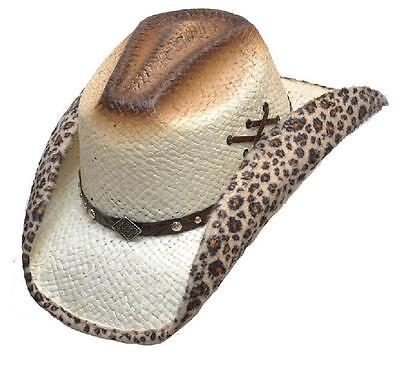 f6b18dfb0885e4 Straw Hat Cowboy Hat Western Hat Hat With Hatband and Leopard Skin - LOOK