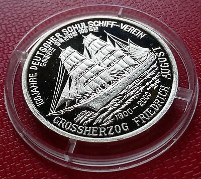 2000 Korea, 5 Won Grossherzog Friedrich August Silver 999 Low Mintage Scarce !!