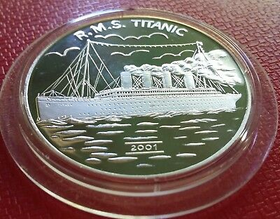2001 Korea, 5 Won, R.M.S. TITANIC, Silver 999, Proof, Scarce !!