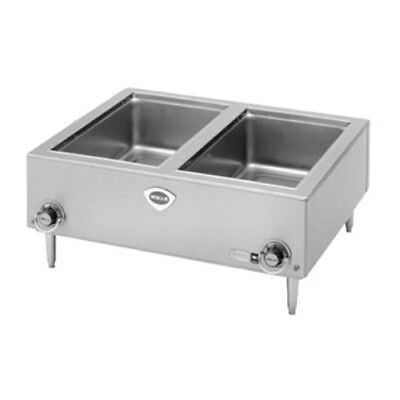 "Wells TMPT Electric Countertop Food Warmer - (2) 12"" x 20 Pan Capacity"