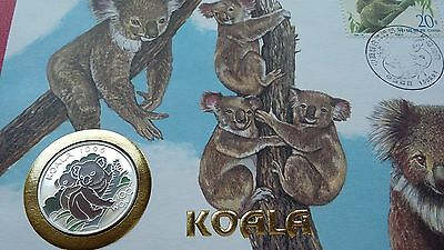 1996 Korea, 100 Won, Koala Bear, Colour, First Day Cover, FDC, Silver 999 !!