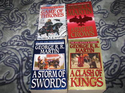 4 PB Book Lot Game of Throne Fantasy Series by George R R Martin