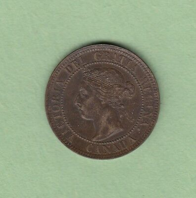 1901 Canadian One Large Cent - EF-45