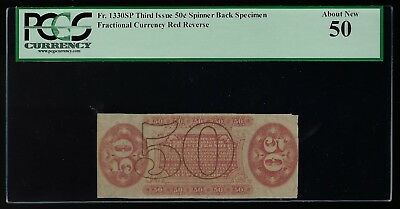 US 50c Fractional Currency Specimen FR 1330sp PCGS 50 AU