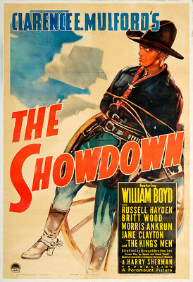 The Showdown 1940 27x41 Orig Movie Poster FFF-30274 Rolled Russell Hayden Wes...
