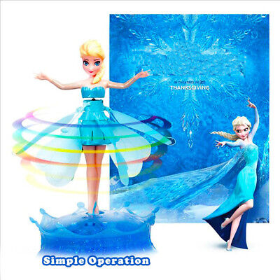 Princess Flying Fairy Elsa remote Flutterbye Girl Doll Xmas Gift Interactive Toy