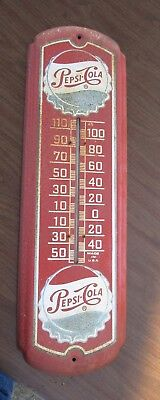 """Vintage Antique PEPSI Cola Working Barn Wall Thermometer 27""""  Sign Pepsi Soda"""
