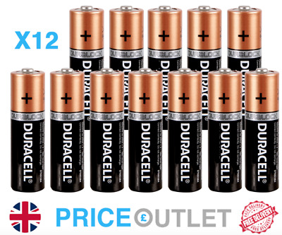 12X DURACELL ALKALINE SIMPLY AA BATTERIES (LONG EXPIRY DATE) - Brand New