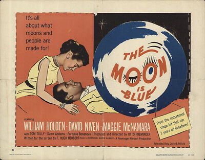 The Moon Is Blue 1953 22x28 Orig Movie Poster FFF-62258 David Niven