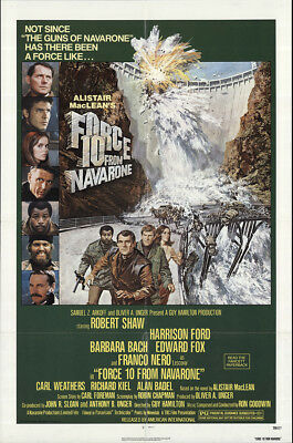 Force 10 from Navarone 1978 27x41 Orig Movie Poster FFF-62676 Fine Harrison Ford
