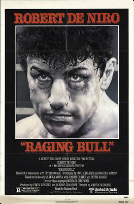 Raging Bull 1980 27x41 Orig Movie Poster FFF-61912 Robert De Niro Martin Scor...