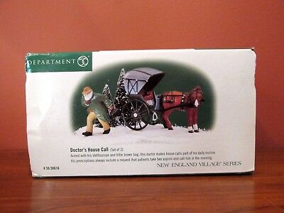 "Dept 56  Heritage Village Series ""doctor's House Call"" - Set Of 2"