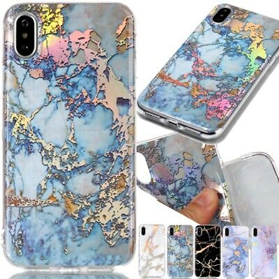 Ultra Slim Marble Pattern Rubber Soft TPU Case Cover For iPhone Huawei Samsung