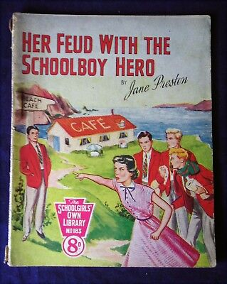 THE Schoolgirls's Own Library No.183, Her Feud with the Schoolboy Hero (1950's)
