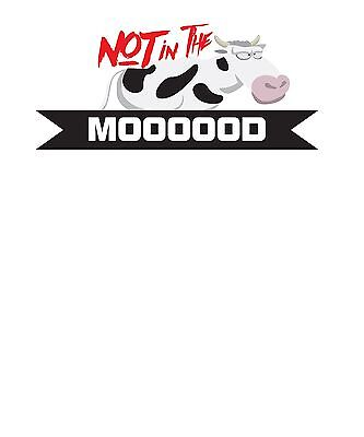 """""""Not In The Mood"""" Funny Adult Cow Sex Screensaver - Free Economy Shipping"""