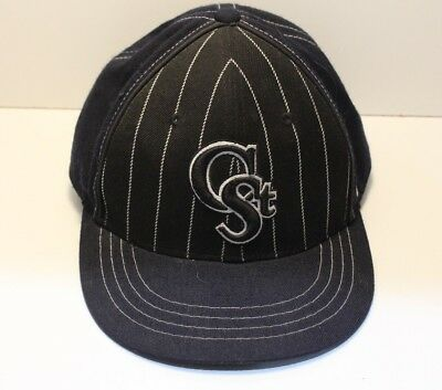 (H 14) C st. baseball capp by zhat co.black and white fitted size 7 1/2.