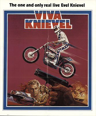 Viva Knievel! 1977 27x32.5 Orig Movie Poster FFF-54287 Red Buttons U.S. One S...