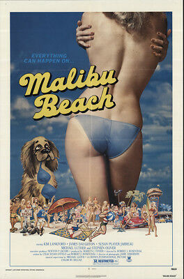 Malibu Beach 1978 27x41 Orig Movie Poster FFF-56859 Fine James Daughton