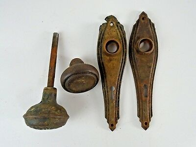 ATQ Victorian Ornate Door Handle & Key Hole Lock Plate Architectural Salvage -A2