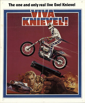 Viva Knievel! 1977 27x32.5 Orig Movie Poster FFF-53699 Red Buttons U.S. One S...