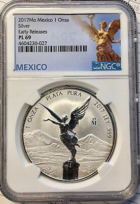 2017 1oz Silver Libertad Reverse Proof  *Treasure Coin of Mexico™* NGC PL-69