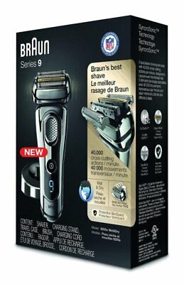 NEW!!!-  Braun Series 9 9293s Wet and Dry Shaver 5 Pc Box