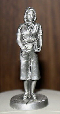 Hudson Pewter Female Doctor Pewter Figurine