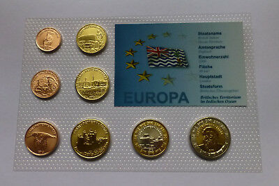 British Indian Ocean Territory (BIOT) Euro Pattern Set 2013, Essai-Specimen