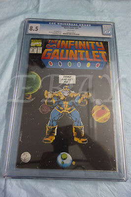 Infinity Gauntlet 4 Cgc Graded 8.5 White Pages Thanos Avengers