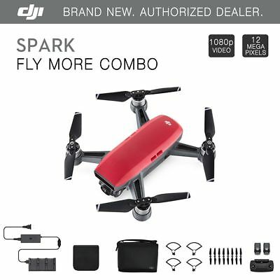 DJI Spark Fly More Combo - Lava Red Quadcopter Drone + $125 eBay Gift Card!