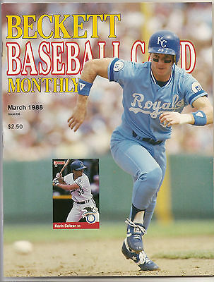 Beckett Baseball Monthly Issue 36 March 1988 Kevin Seitzer Roger Clemens Boggs
