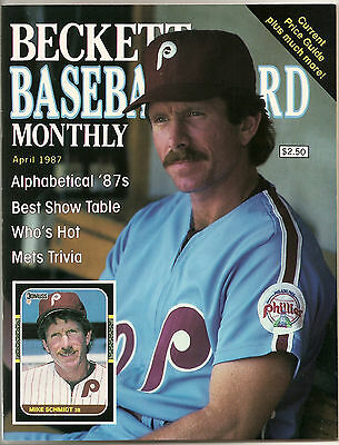 Beckett Baseball Monthly Issue 26 April 1987 Mike Schmidt Cory Snyder
