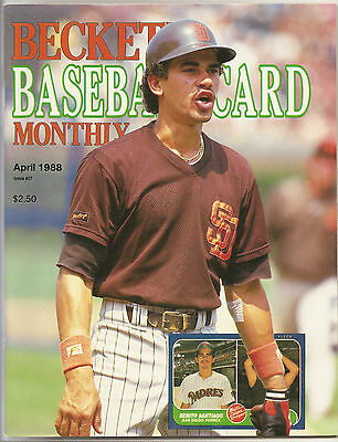 Beckett Baseball Monthly Issue 37 April 1988 Benito Santiago Dale Murphy