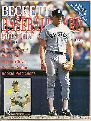 Beckett Baseball Monthly Issue 25 March 1987 Roger Clemens Rickey Henderson